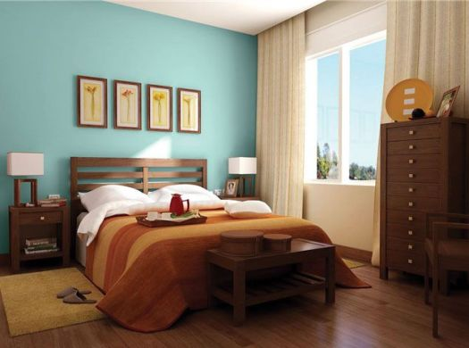 Bedroom With Bright Colours