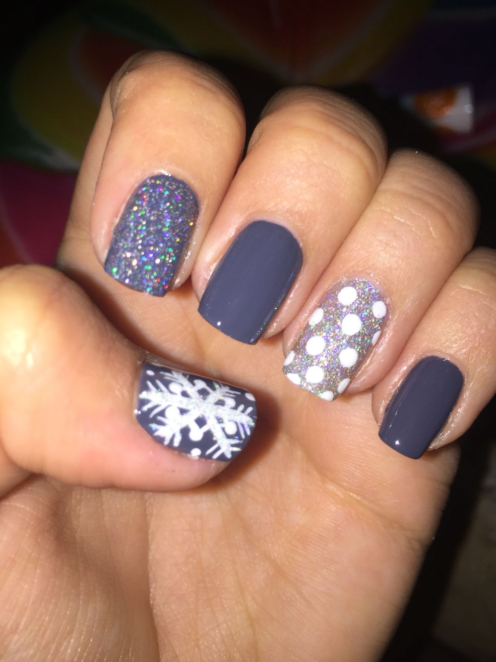 Christmas gel nails. Done by yours truly ️ Nail designs