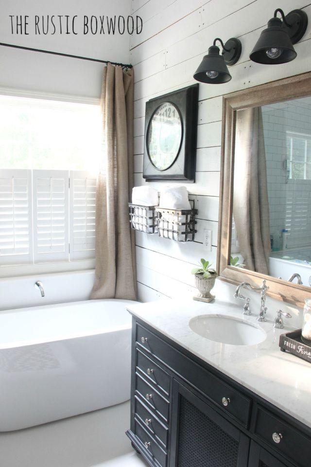 Our DIY Farmhouse Styled Bathroom Makeover