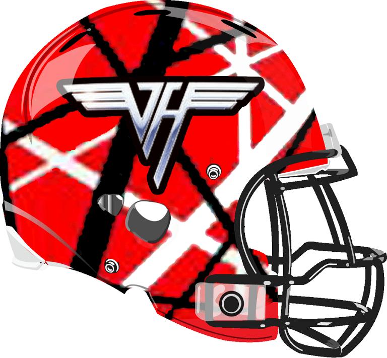 Van Halen Helmet from a Fantasy Football League Rock and