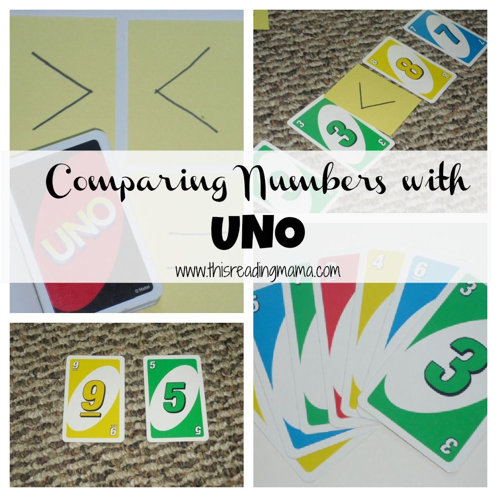 Comparing Numbers With Uno This Reading Mama