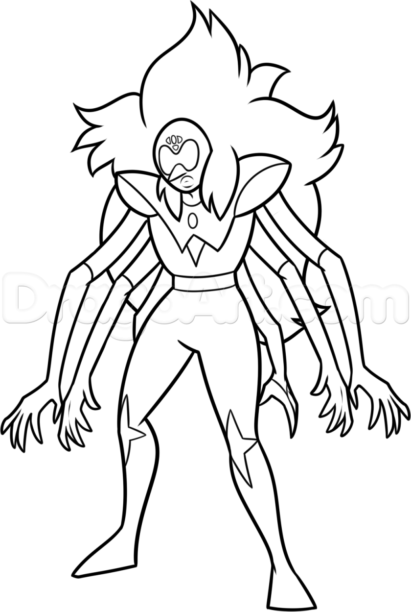 alexandrite steven universe character coloring pages