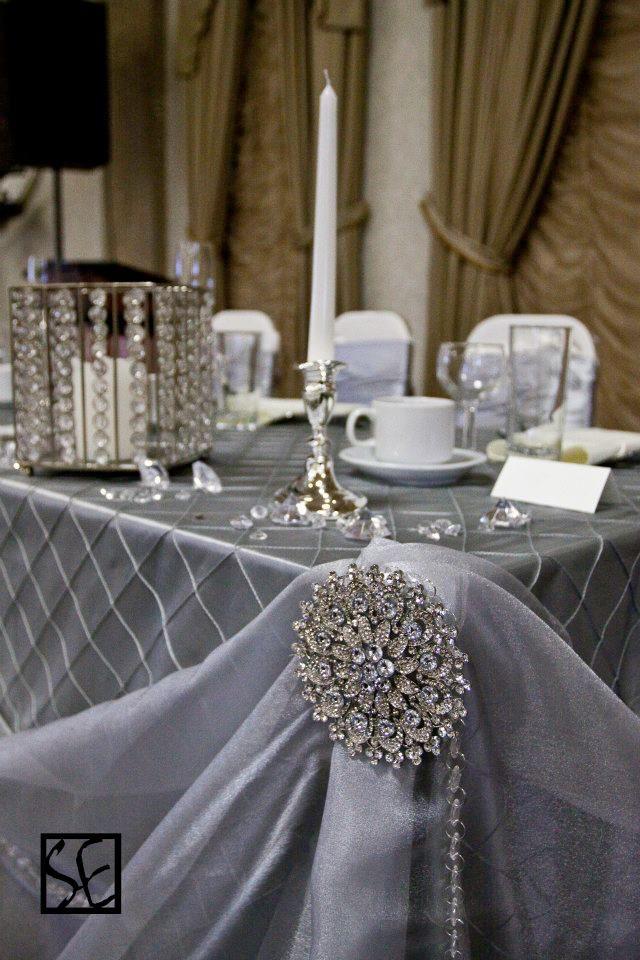 For Tanya .sweetheart table. chiffon draping make