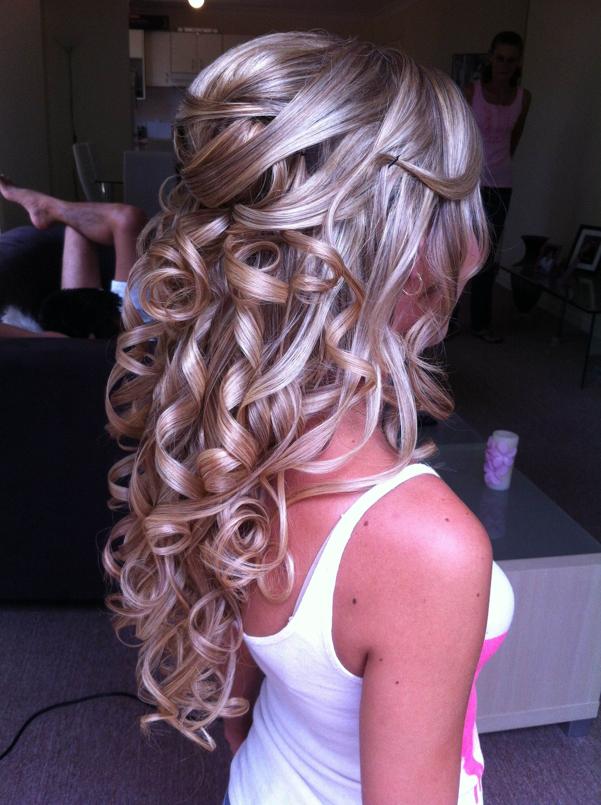 half updo Wedding hair Pinterest