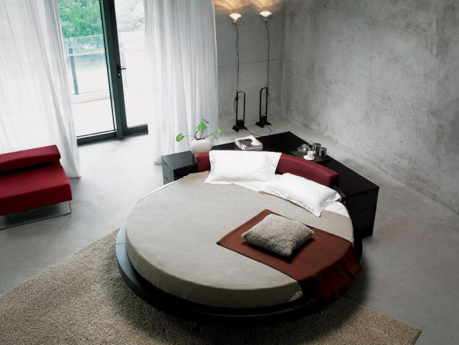 The Plato Round Bed With Mattress Included Is Very Edgy Its
