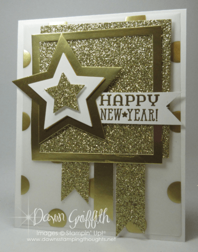 handmade card Happy New Year by Dawn Griffith lots
