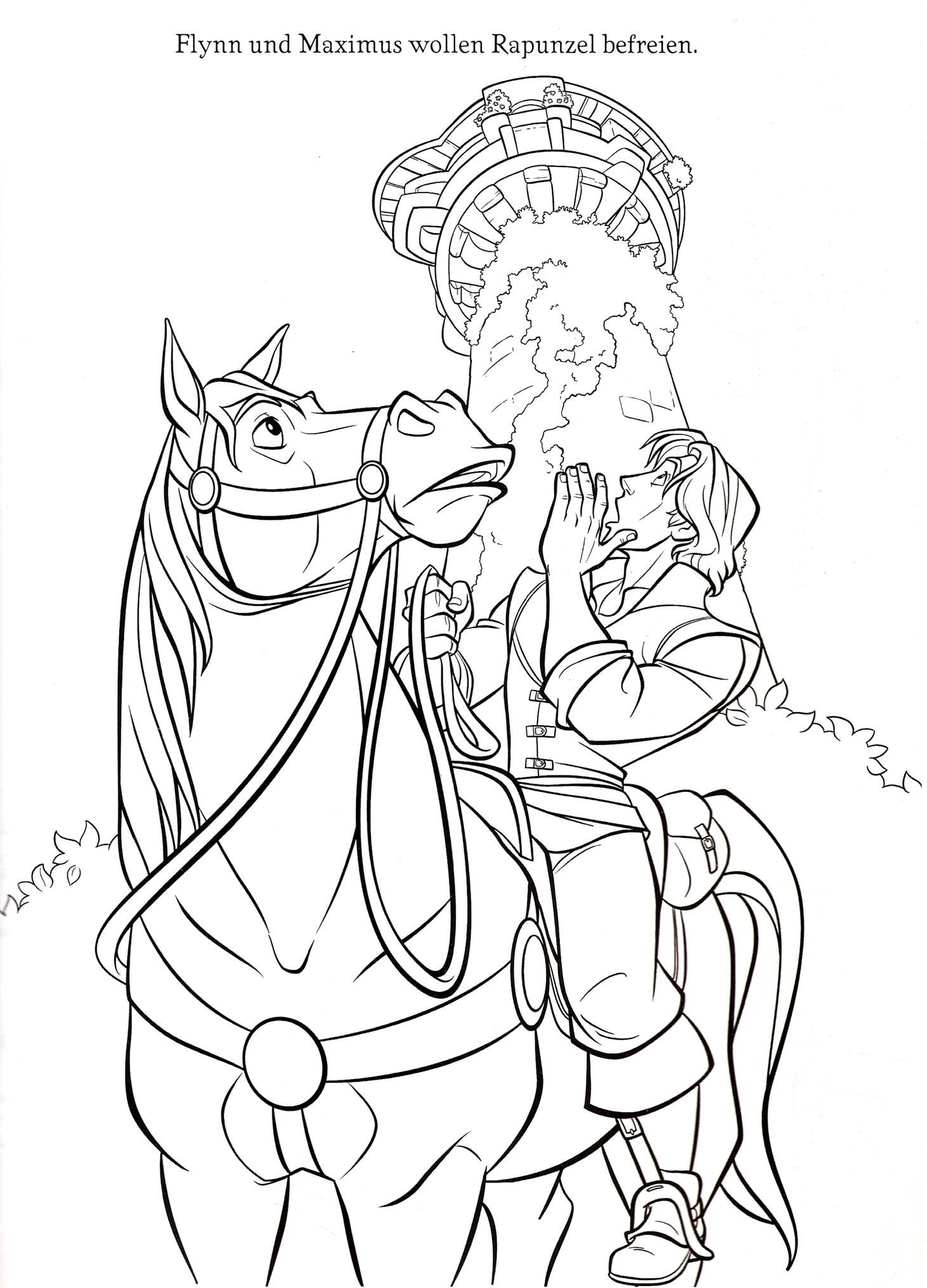 This Beautiful Rapunzel Coloring Sheet From Tangled Coloring Pages Is Perfect For Kids Who Will