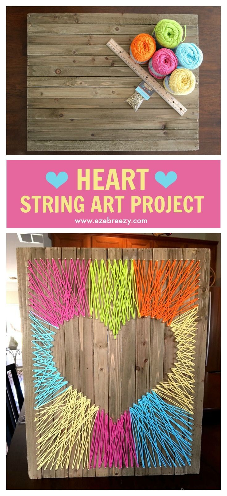 Fun and Easy String Art Craft String art, String crafts