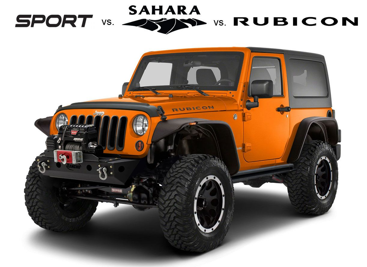 JeepwranglerSportvsSaharavsRubicon Jeep Blogs