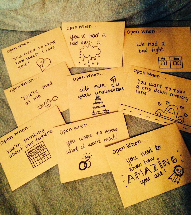 Creative Open When Letter Ideas & Designs Boyfriends