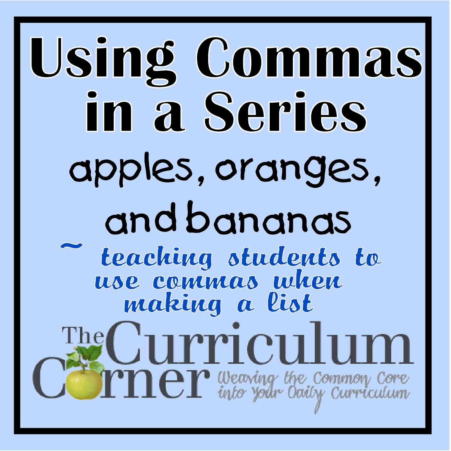 Using Commas To Separate Groups