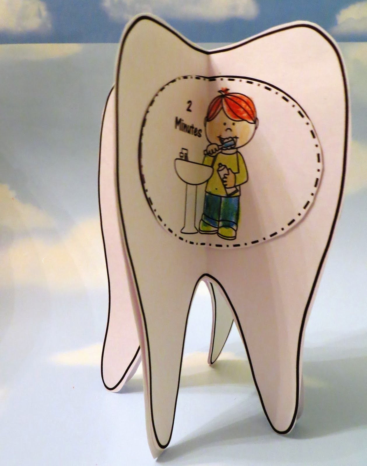 Tooth Brushing Craft For Dental Health Month