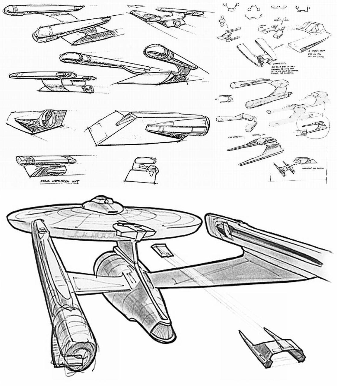 U S S Enterprise Concept Art And Design By Andrew Probert