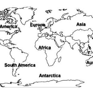 continents world maps and coloring pages on pinterest