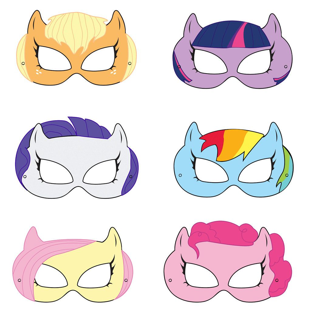 My Little Pony Printable Masks By Hungrypandasupplies On Etsy 4 00