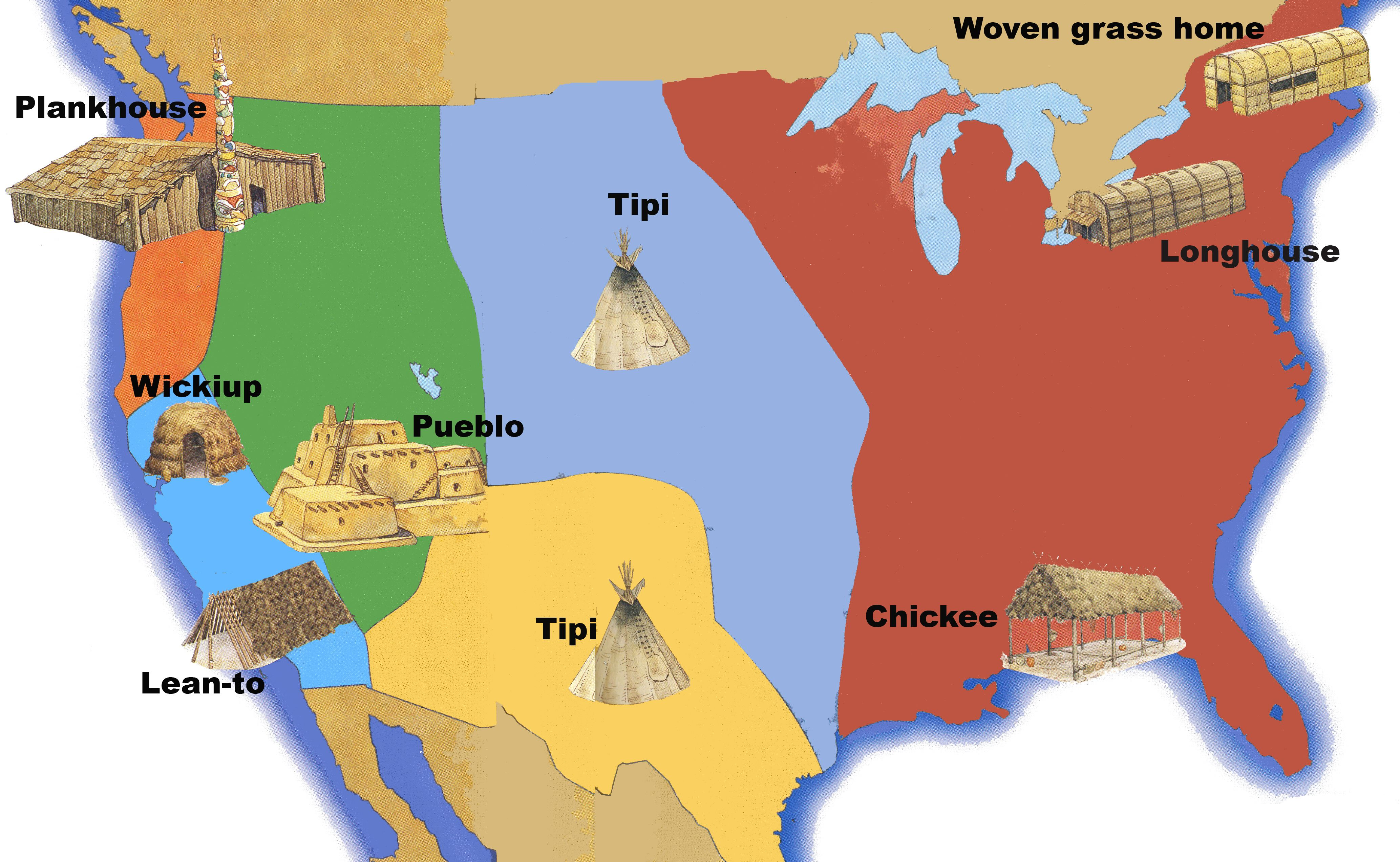 Native American Regions Map Gallery