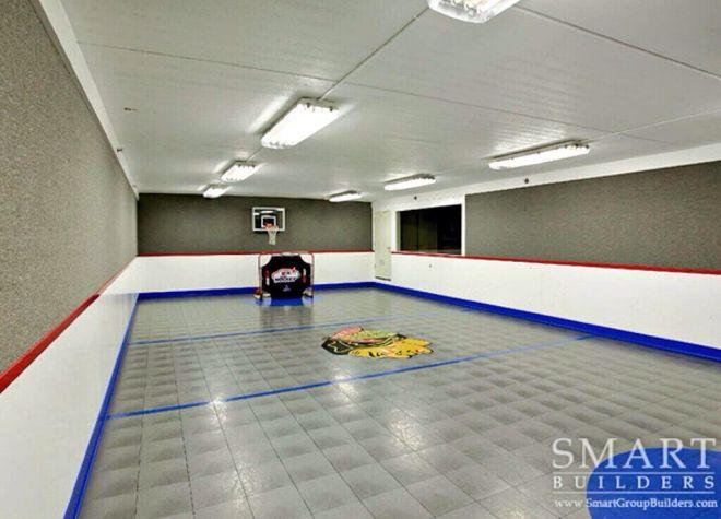 Basement floor hockey rink home pinterest basement