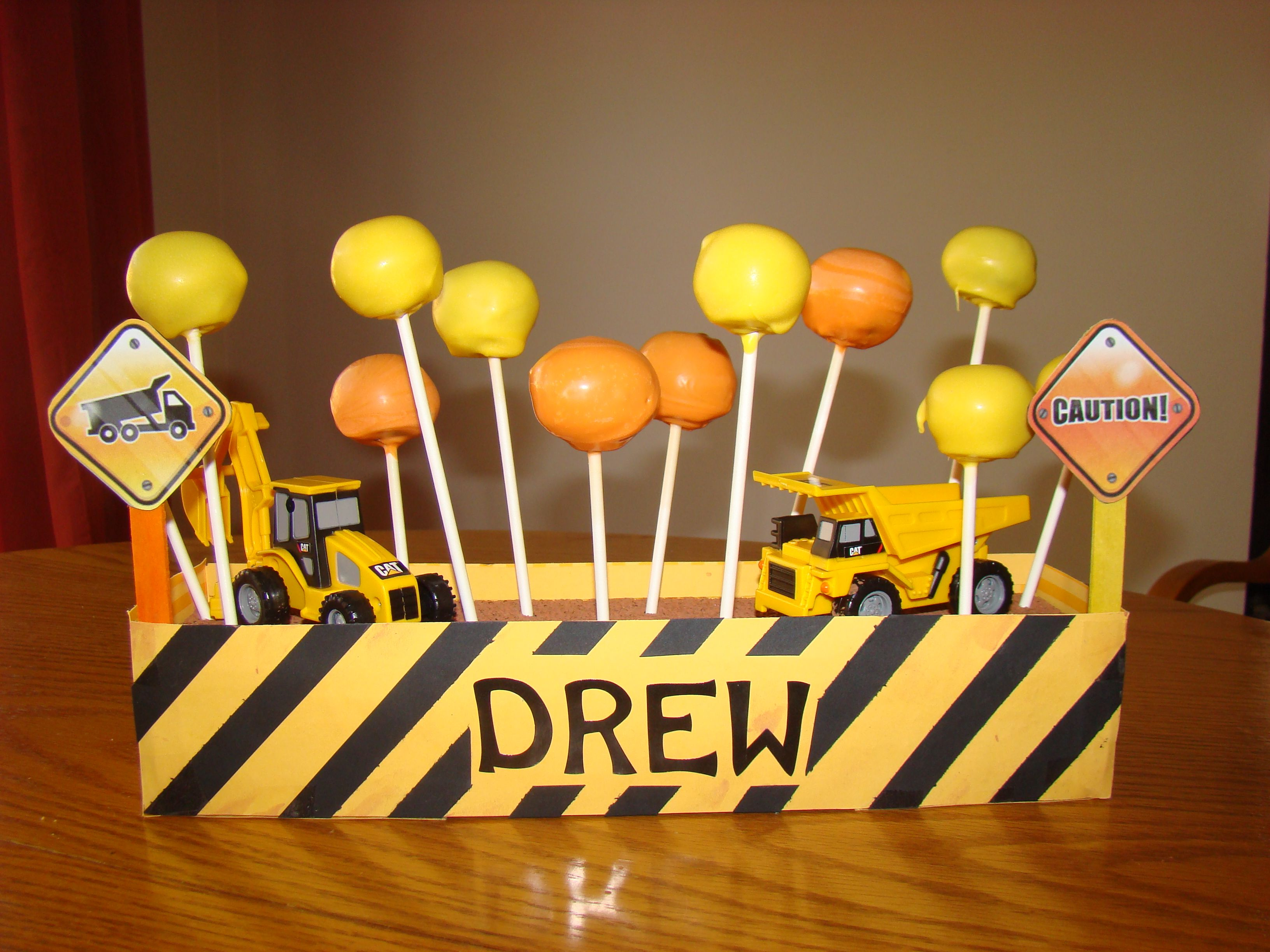 Construction Cake Pop Display For A Little Boy S Birthday