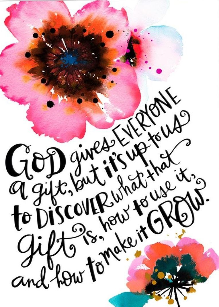 Beautiful quote about faith make your gift grow christ