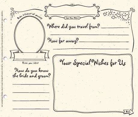diy wedding guest book template | Poemsrom.co