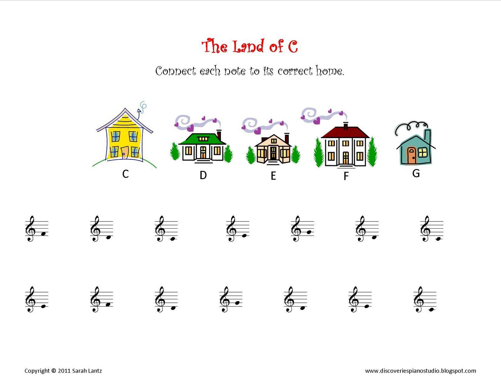 Discoveries Piano Studio New Worksheets For Learning C