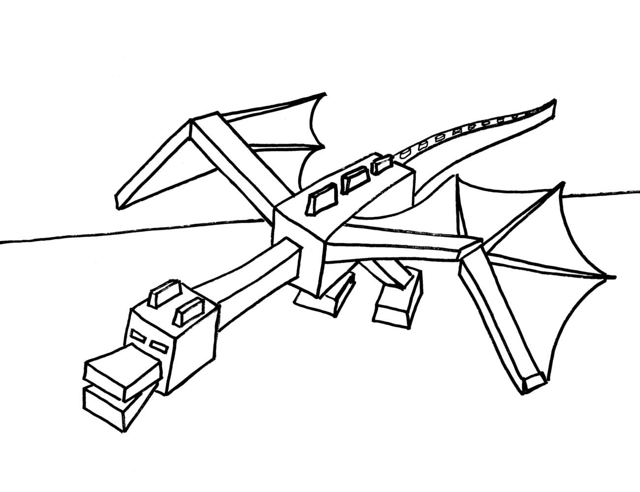 Colorings Minecraft Coloring Pages Ender Dragon