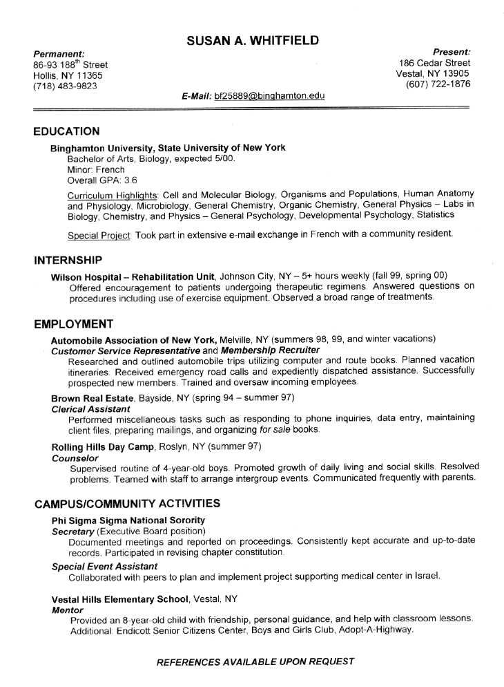A Perfect Resume Example. Example Of A Perfect Resumes Template