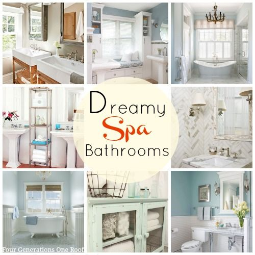 dreamy spa bathrooms + wayfair curated sales event | spa bathrooms