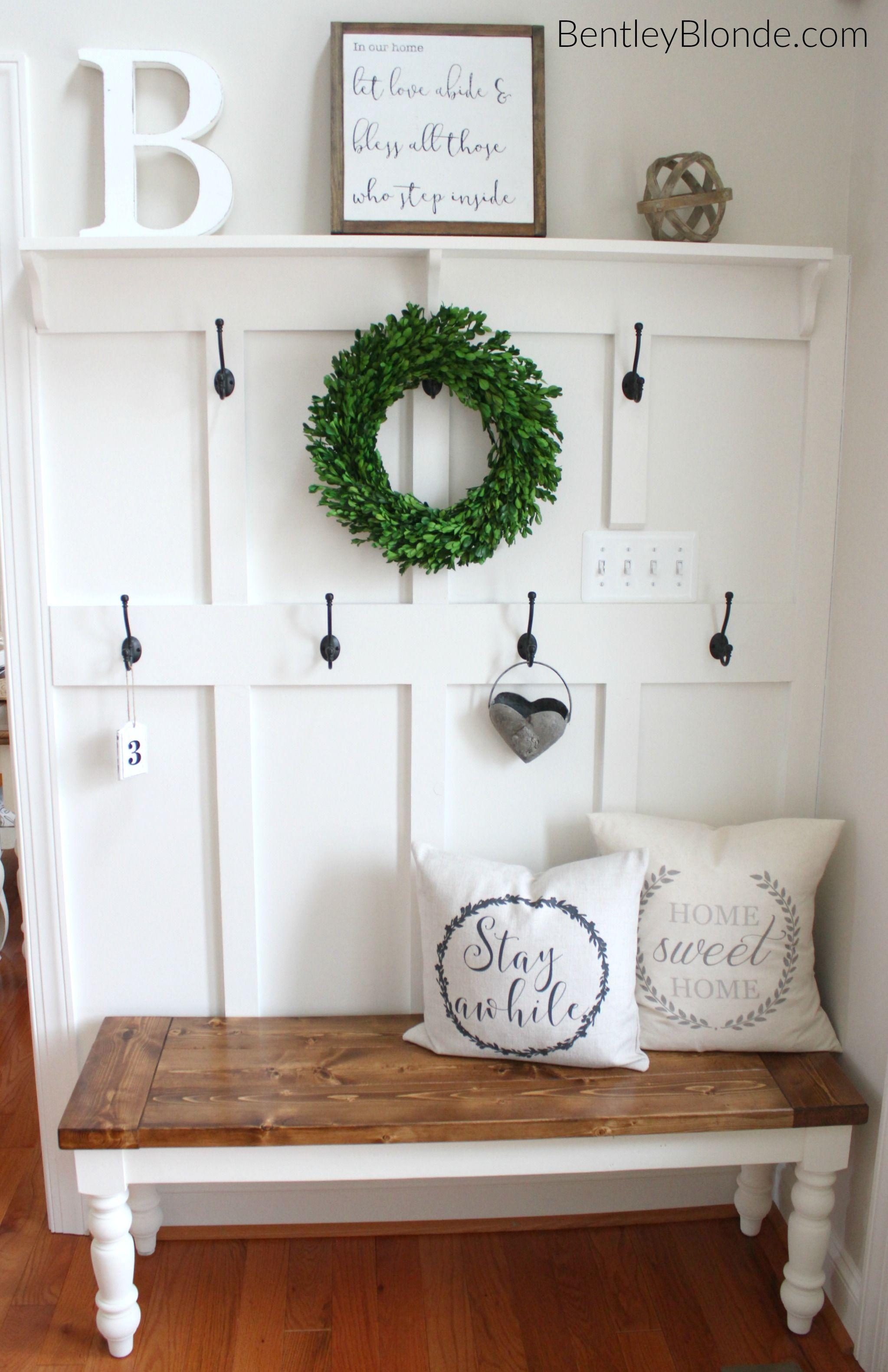 DIY Farmhouse Bench Tutorial Farmhouse Style Pinterest