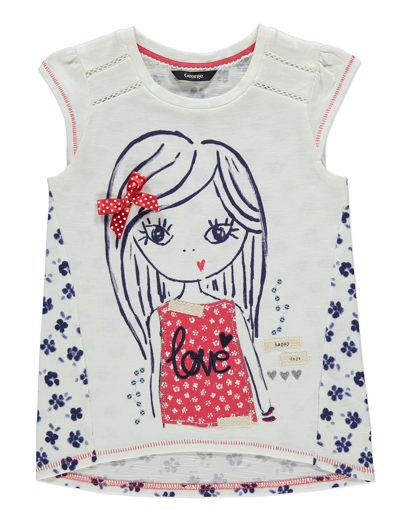 Maritime Girl Tshirt Kids at ASDA tshirt