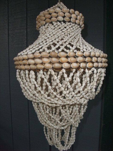 Vintage Cowrie Shell Swirl Chandelier From The 1970s By Mrbarnes5
