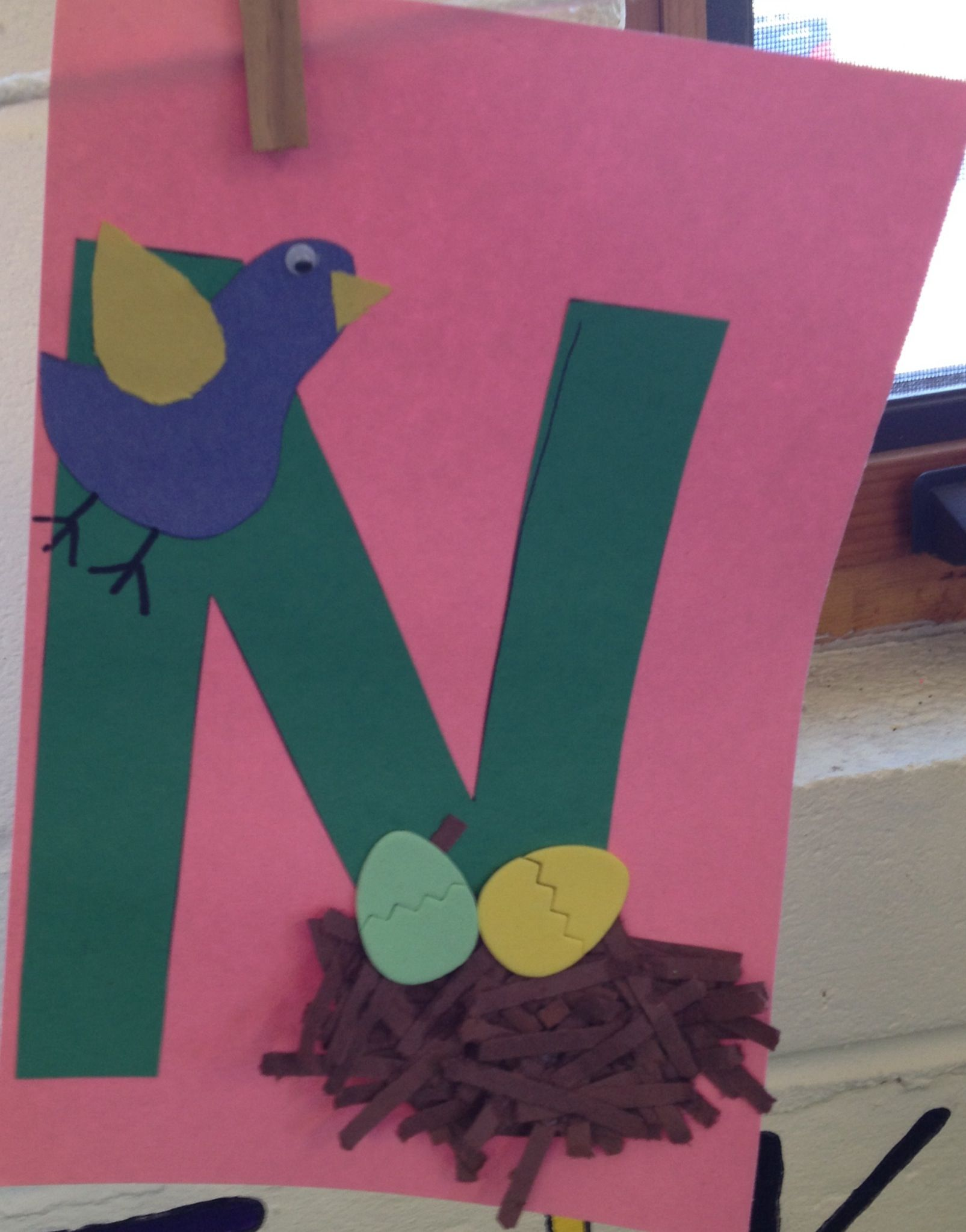 Preschool Letter N Craft