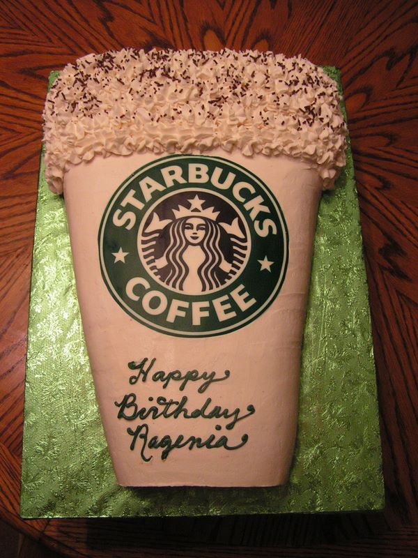 Starbucks Coffee Cup Birthday Cake.... My kind of Cake