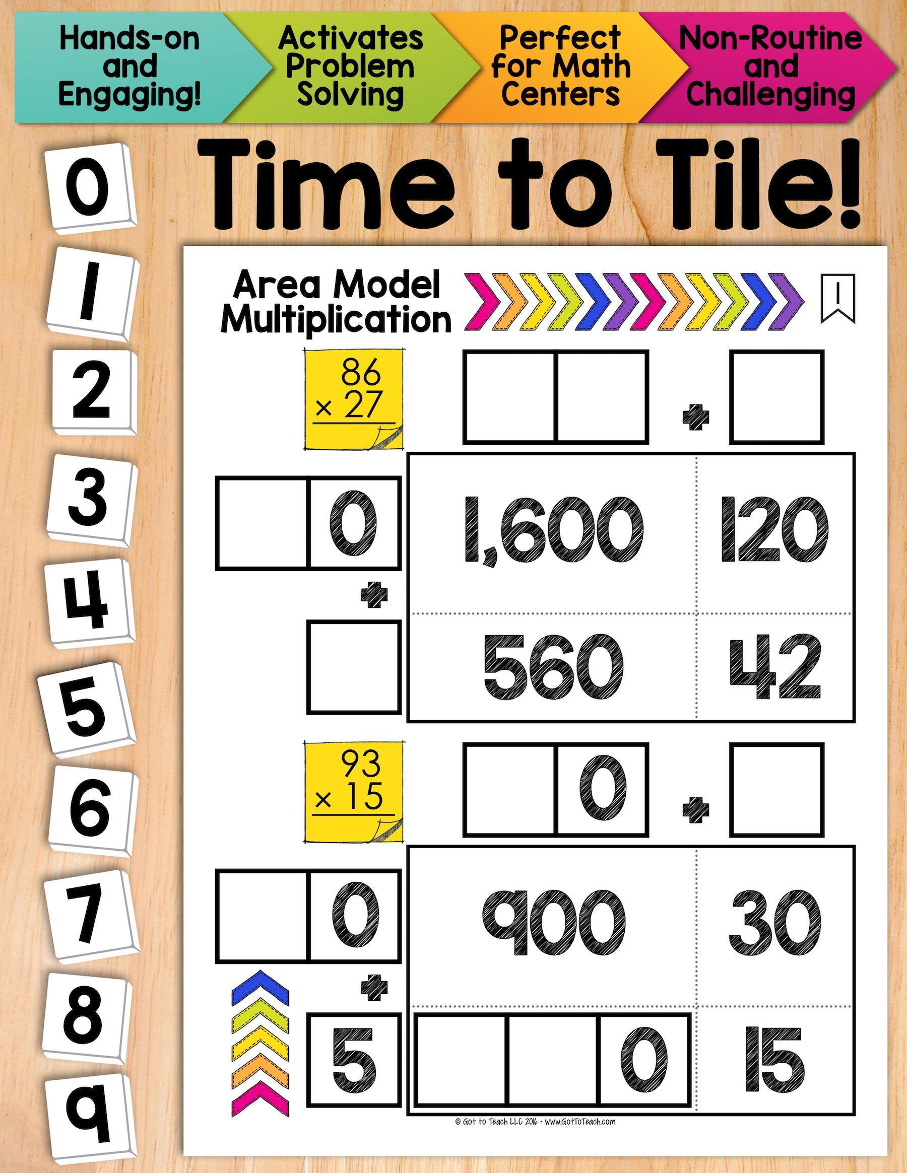 Math Tiles Area Model Multiplication