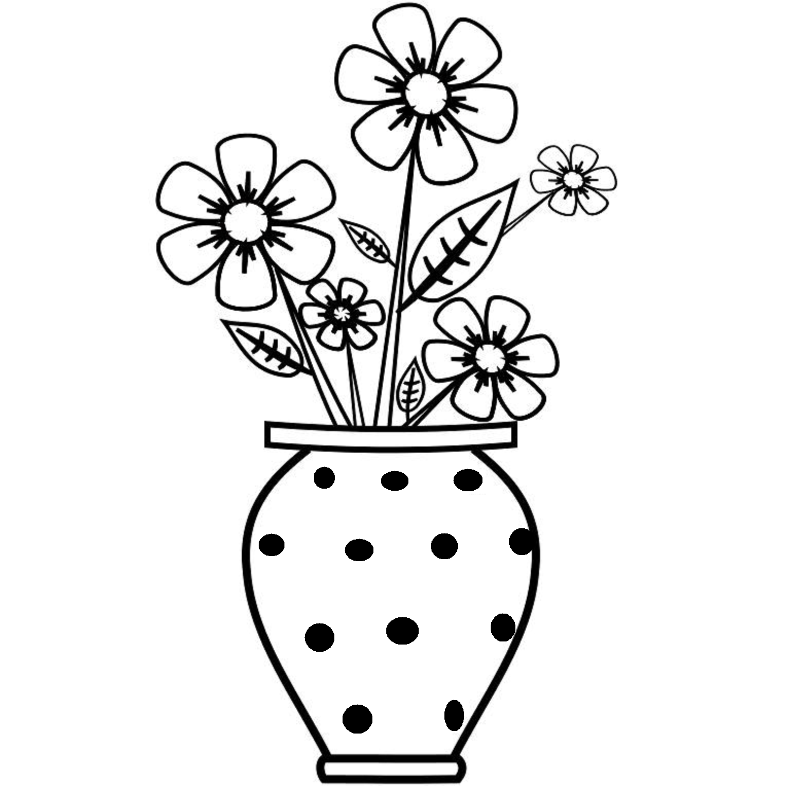 Flower Pot Images For Drawing Sketches Pinterest