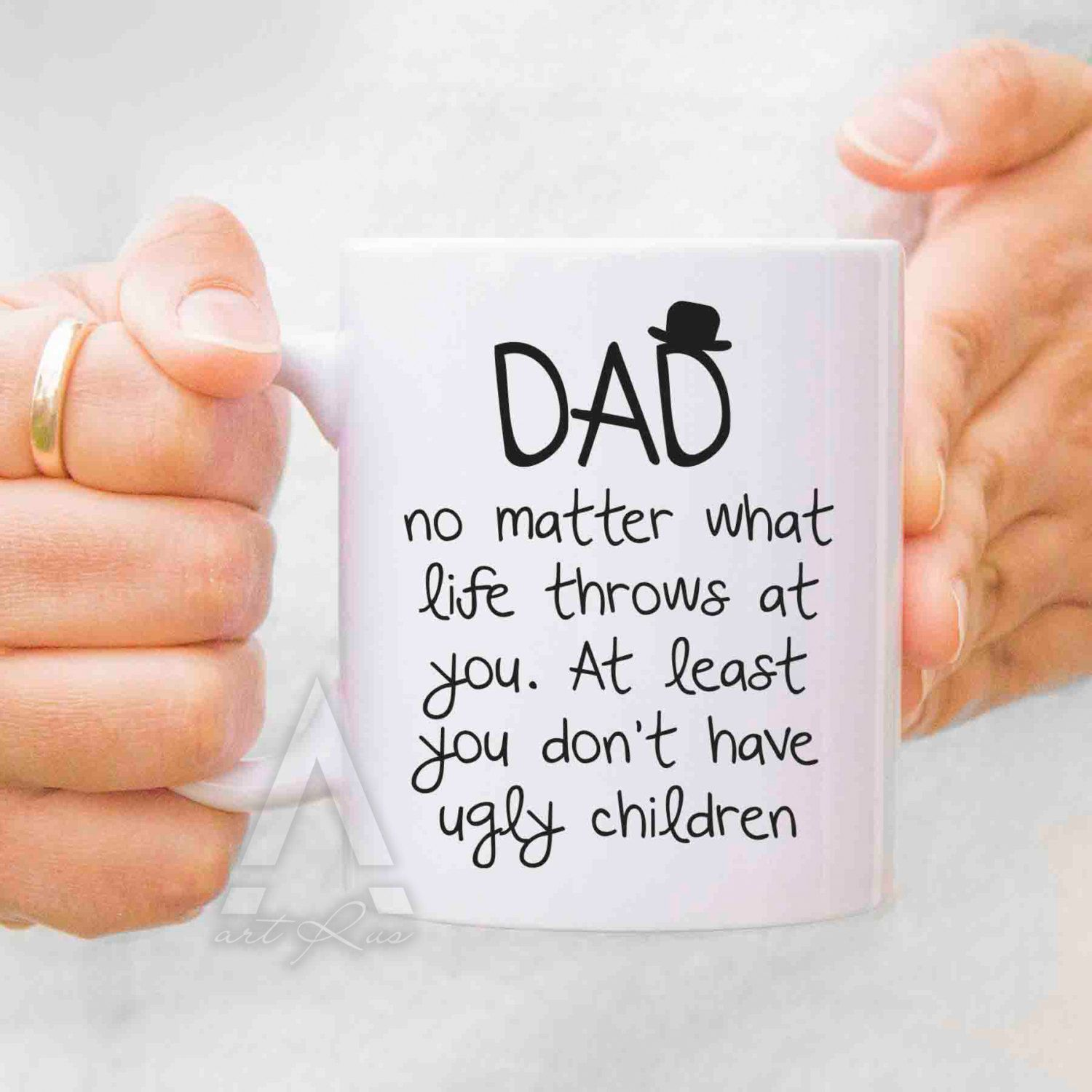 Fathers day gift from daughter, father mug, dad mug, gift