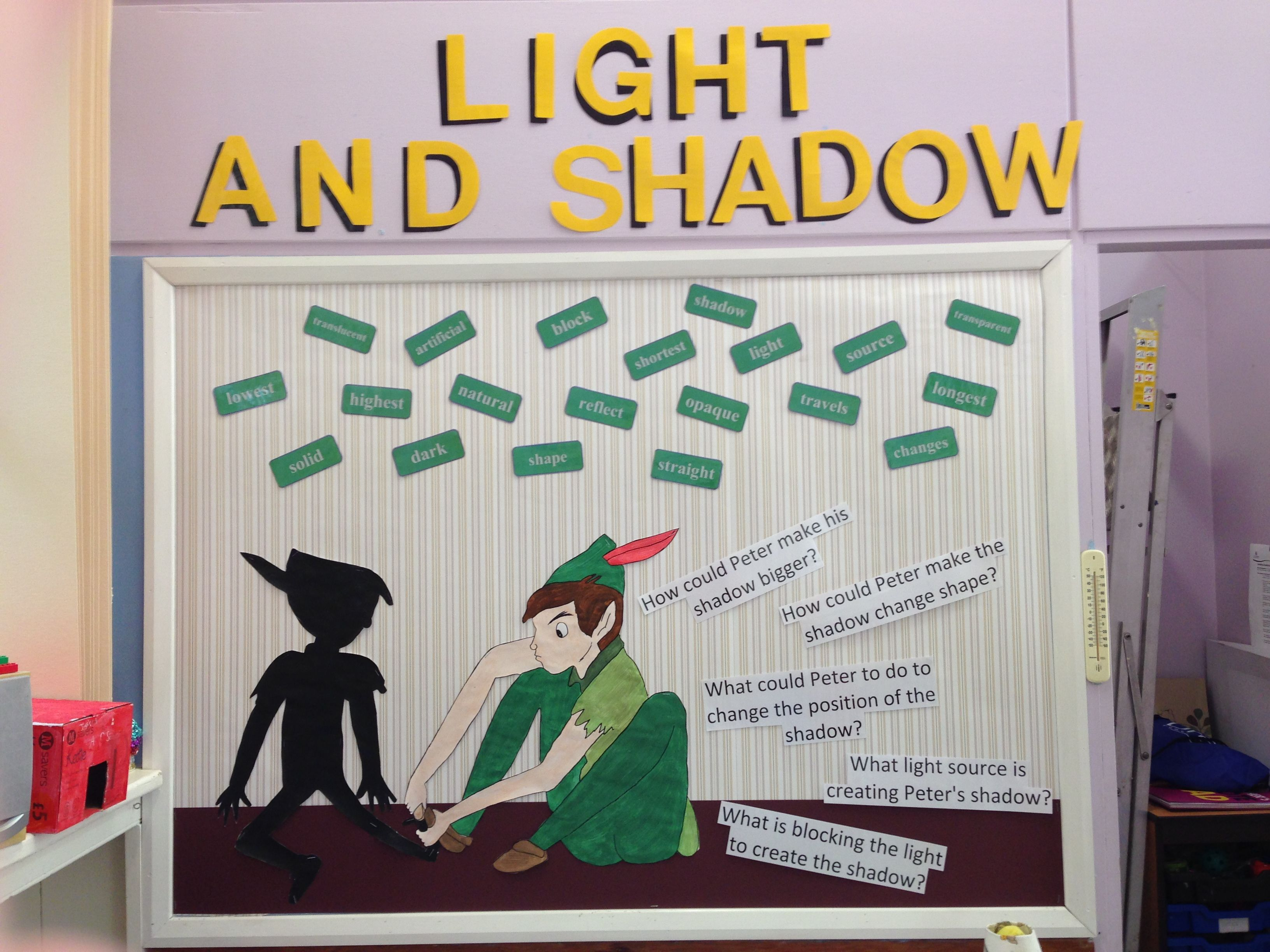 Classroom Display Science Light And Shadow Peter Pan