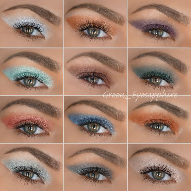 Nyx Prismatic Eyeshadows Swatches Left To Right From The Top Frost Bite Liquid