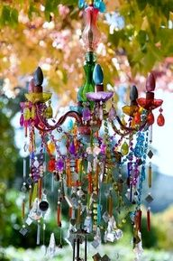 Love This Reminds Me Of The Colourful Boho Chandelier I Did Earlier In Summer