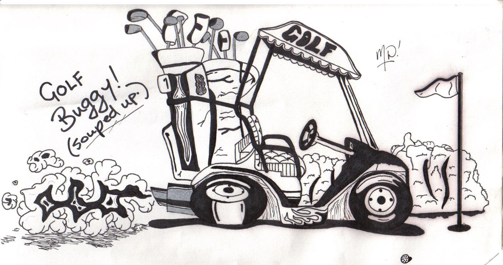 My Dad S Mom Had A Golf Cart That Looked Like A Car So I Want Something Like That For A Tattoo