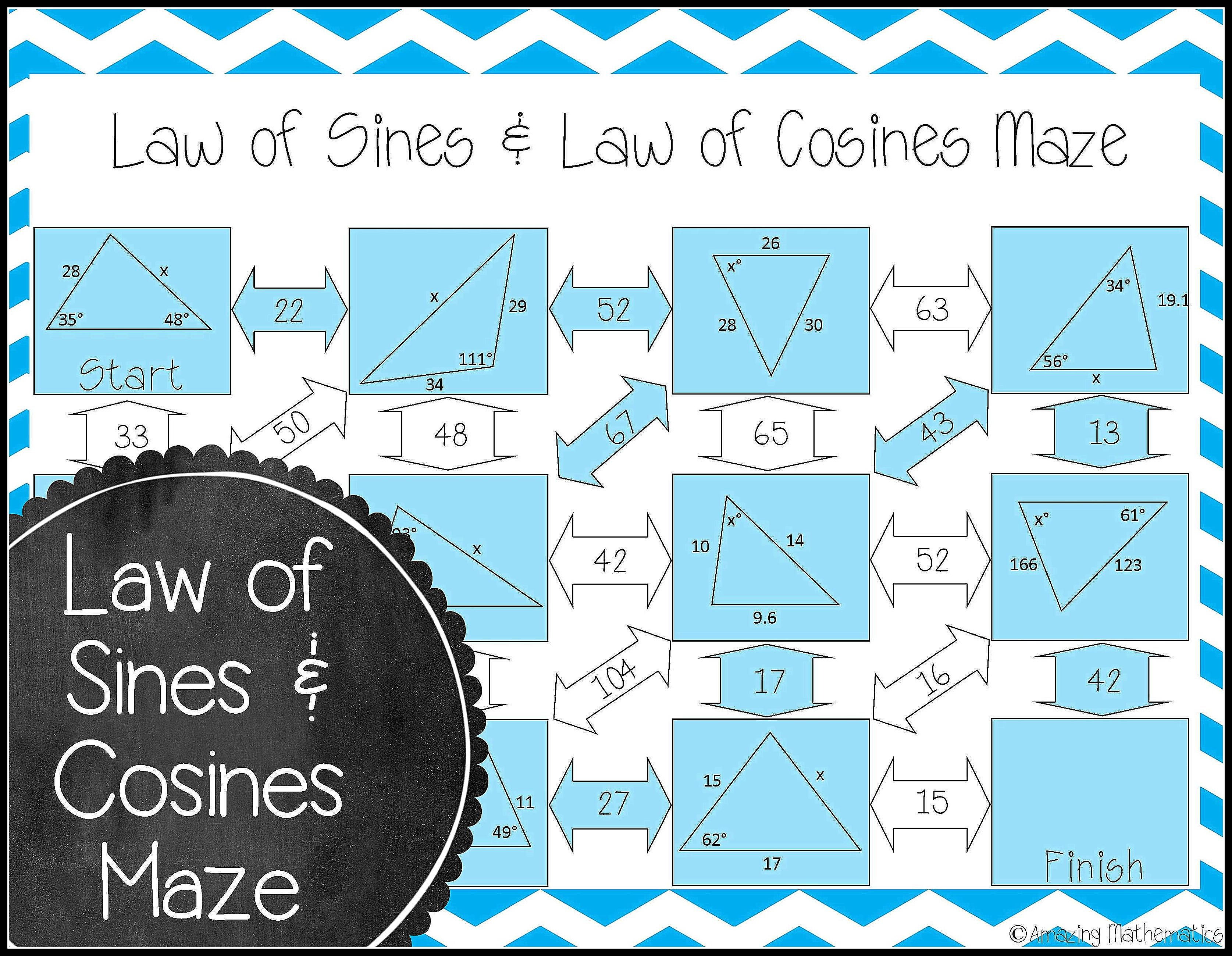 Love Using Mazes In The Geometry Classroom This Law Of