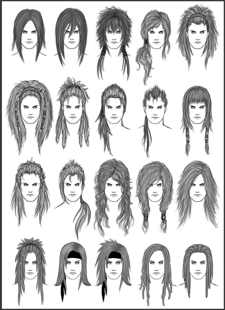 Men's Hair Set 2 Different Hairstyles for Boys