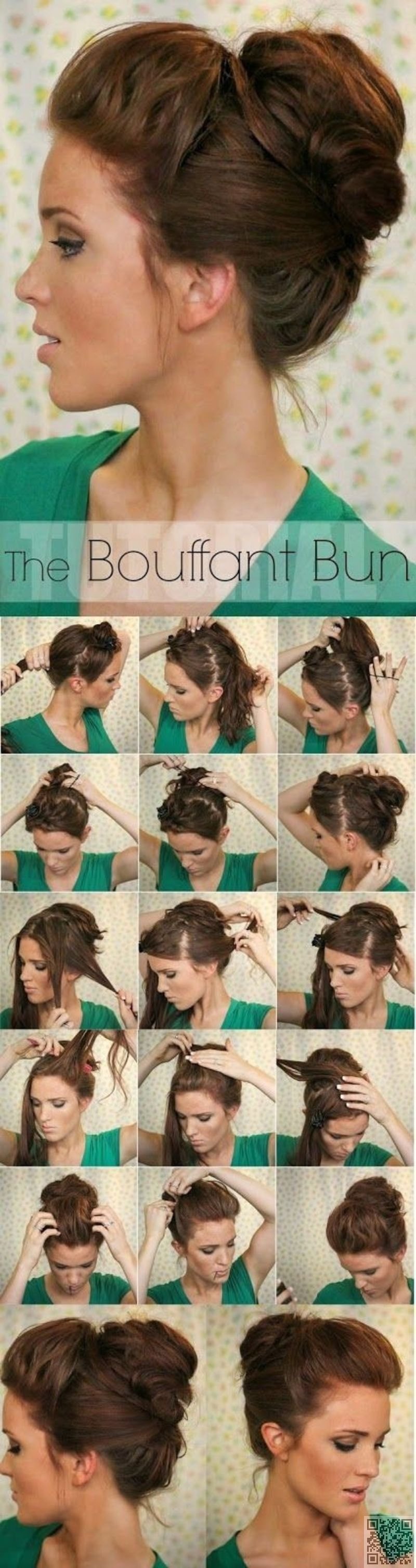 3 Bouffant Bun Tame Your Tresses with These Gorgeous