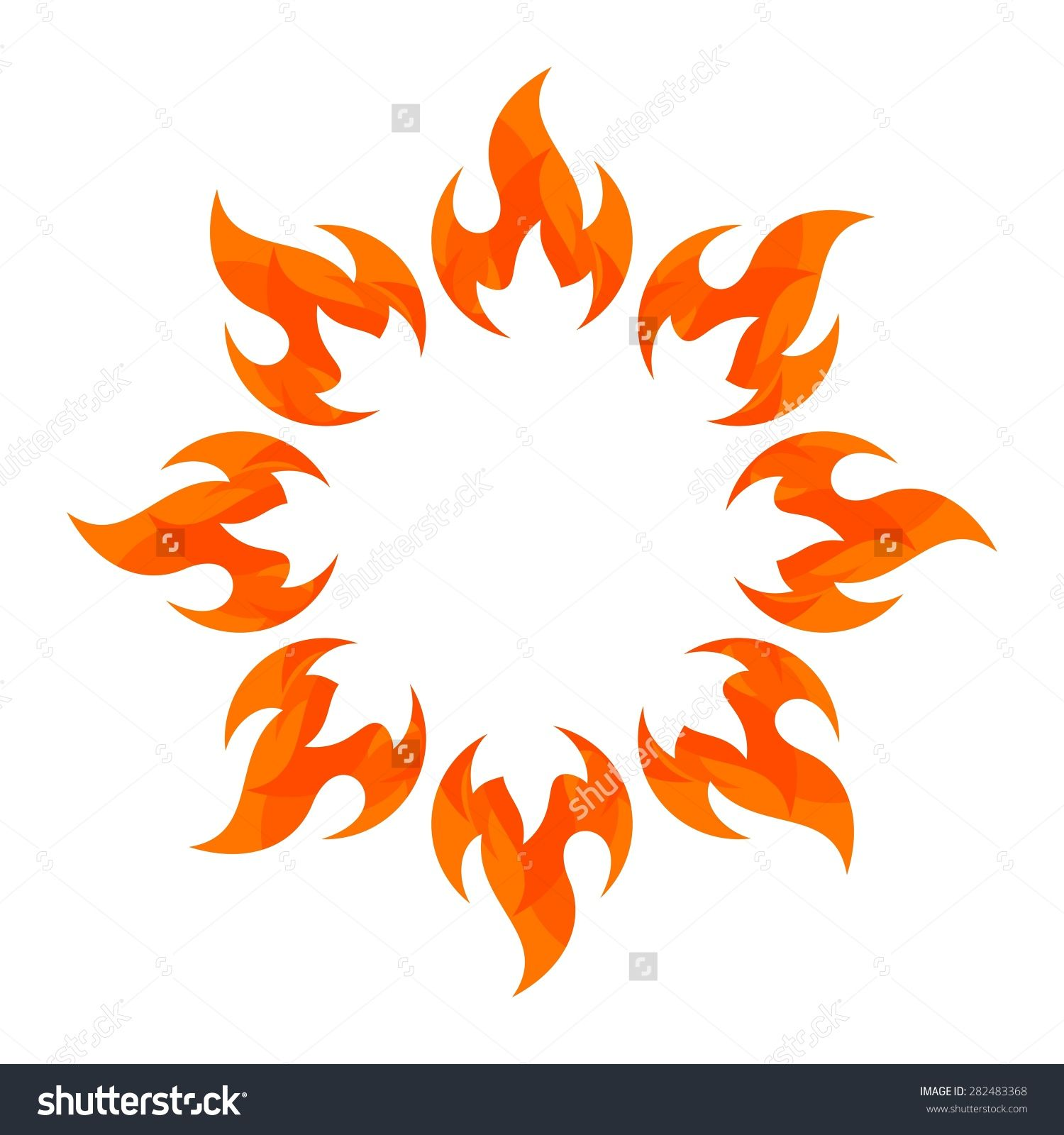 Fire Flame. Fire Logo Vector Template. Fireball Logotype