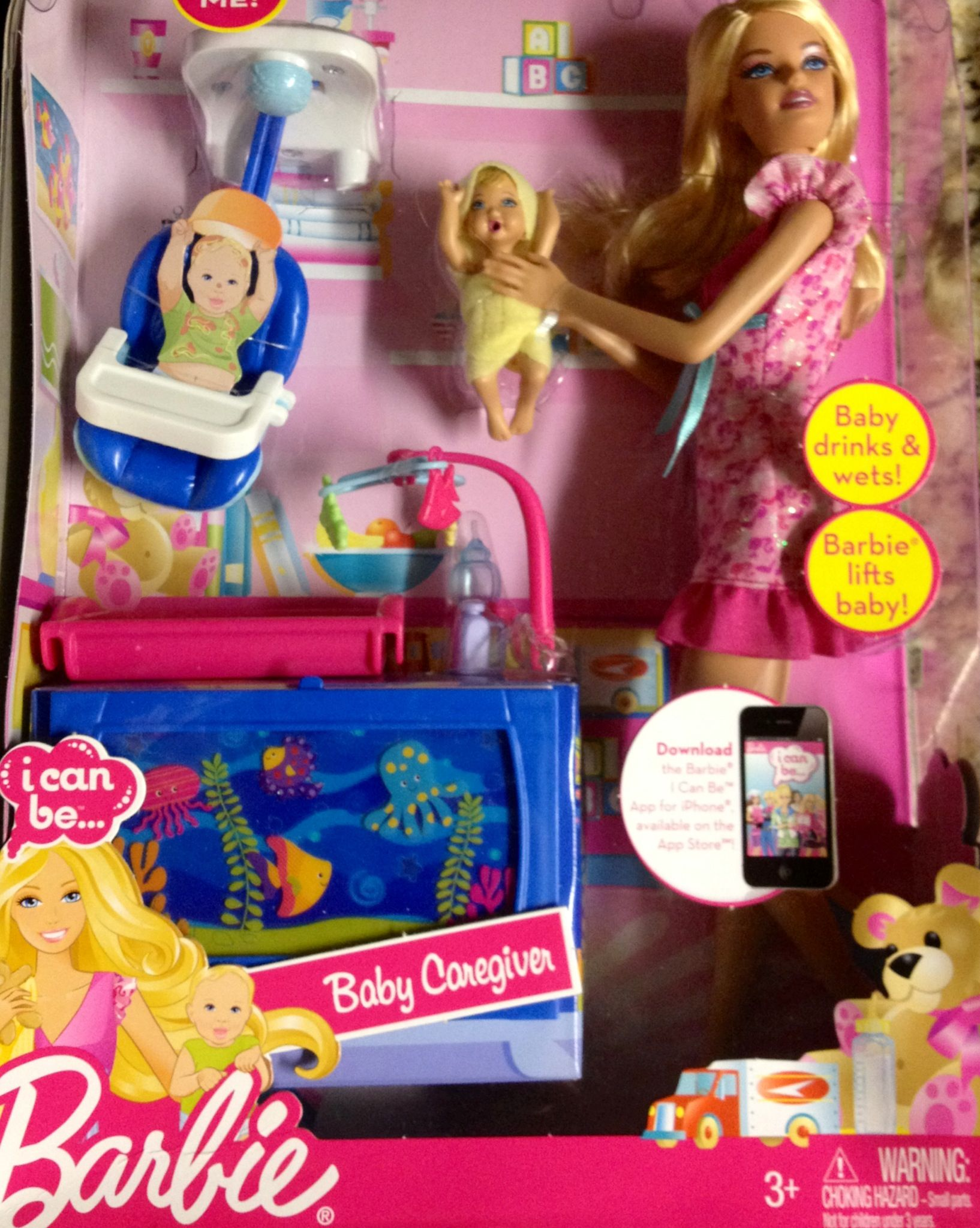 Caregiver / Mother / Barbie doll and baby with Play set