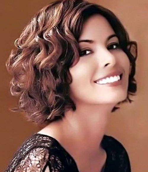 Face Chic Short Haircuts For Round Faces And Curly Hair