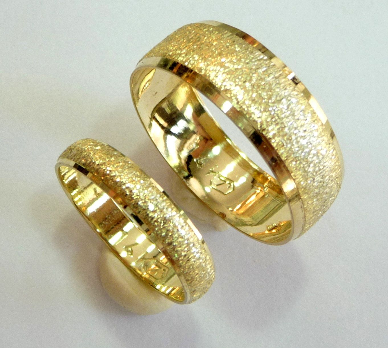 16 Wedding bands set gold wedding rings for men and women