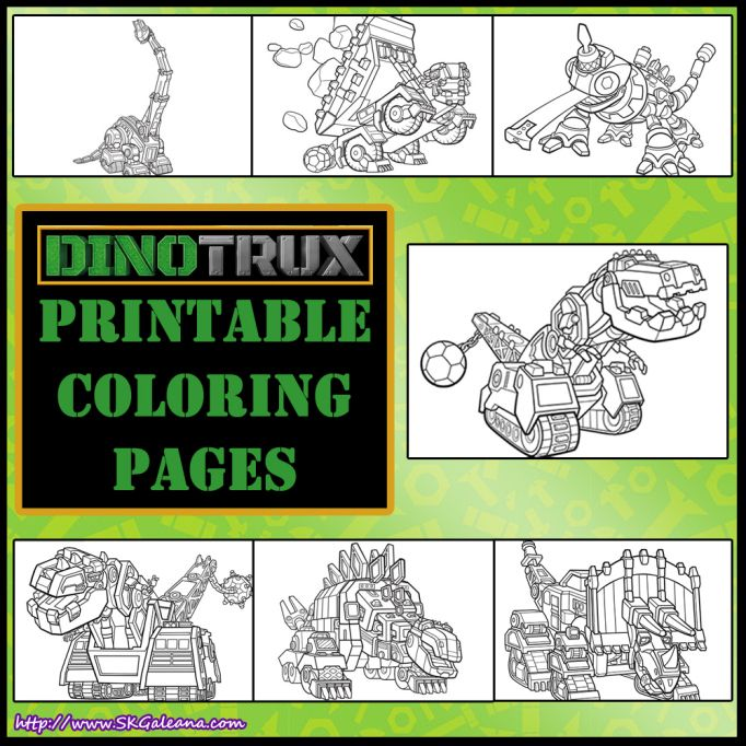 dinotrux printable coloring pages  dinotrux party