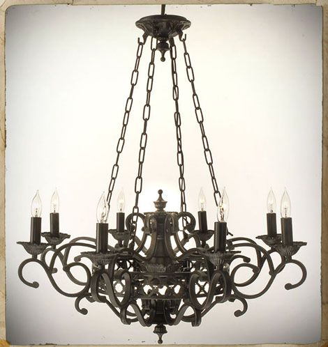 Chandelier Wrought Iron Gothic
