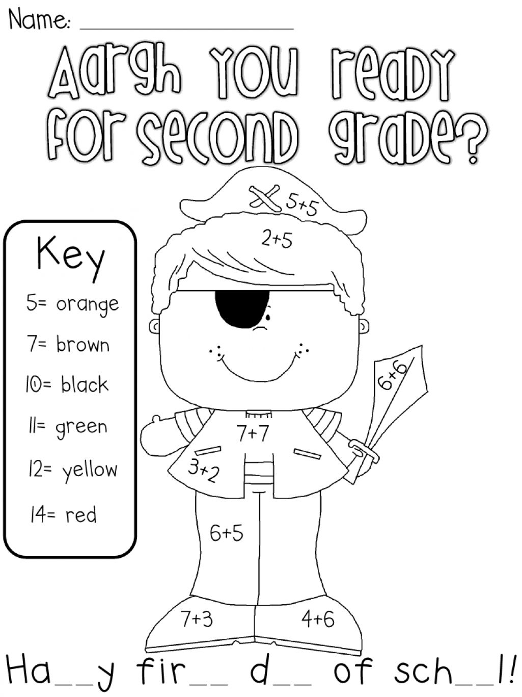 First Day Of School Coloring Pages 2nd Grade Coloring Page